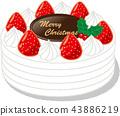 聖誕蛋糕 聖誕季節 聖誕節期 43886219