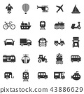 Vehicle icons on white background 43886629