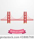 Golden Gate Bridge icon on white background 43886768