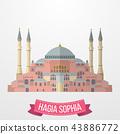Hagia Sophia icon on white background 43886772