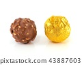 chocolate candy on white background 43887603