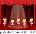 Children ballet dance on stage 43887839