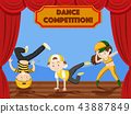 Children dance competition on stage 43887849