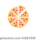 Slice of Italian pizza vector illustration 43887896