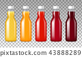 Glass Bottles With Juice  43888289