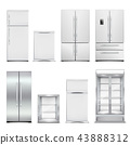 Refrigeration Cabinets Realistic Set 43888312