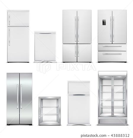 Refrigeration Cabinets Realistic Set 43888312