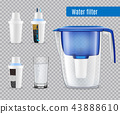 Water Filters Realistic Transparent 43888610