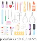 manicure, scissors, nail 43888725