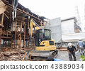 Dismantling work of wooden apartment 43889034