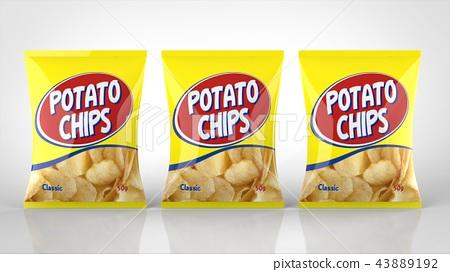 薯片正面3袋 43889192