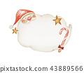 聖誕老人聖誕節消息卡片水彩例證 43889566