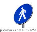Signal of obligatory pedestrian path 43891251