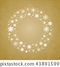 Wreath Snowflakes. New Year or Christmas Frame. 43891599