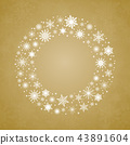 Wreath Snowflakes. New Year or Christmas Frame. 43891604