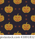Halloween knitted pattern.  43891832