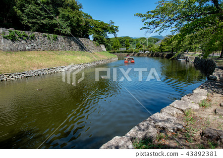 Shiga Prefecture Hikone Castle in summer Moat Tour Houseboat 43892381