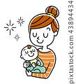 矢量 嬰兒 寶寶 43894434