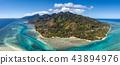 Moorea island french polynesia lagoon aerial view 43894976