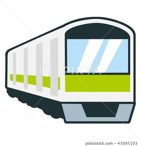 用于每日通勤的火车的例证 43895103
