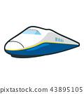 是最快的交通工具在地面上的火车的例证 43895105