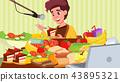 illustration korean eating 43895321