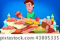 guy social eating 43895335