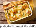 Delicious baked fresh cauliflower with cheese 43895685