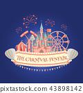 Amusement park banner 43898142