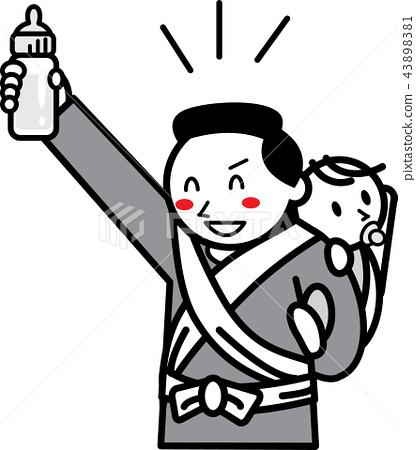 ikumen (man who enjoys child rearing), baby, infant 43898381