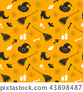 Halloween seamless pattern. vector illustration 43898487