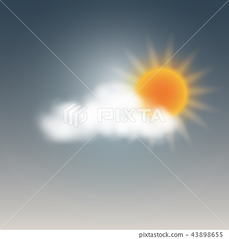weather sunny with cloud 43898655