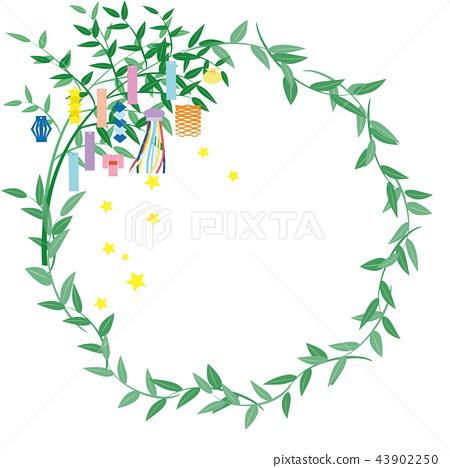 Tanabata節日背景例證 43902250