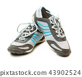 Sports pair of shoes on white background 43902524