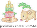 wild boar, sign of the hog, twelfth sign of the chinese zodiac 43902566