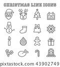 christmas line icons 43902749