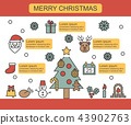 christmas thin line infographic 43902763
