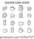 咖啡 图标 一组 43902767