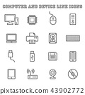 computer and device line icons 43902772