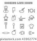 cooking line icons 43902774