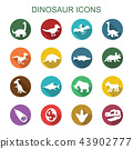dinosaur long shadow icons 43902777