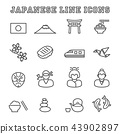 japanese line icons 43902897