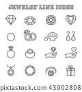 jewelry line icons 43902898