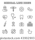 medical line icons 43902903