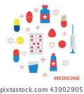 medicine flat design 43902905