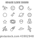 space line icons 43902948