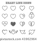 heart line icons 43902964