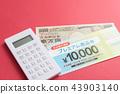 food voucher, calculator, cost 43903140