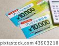 food voucher, calculator, calculation 43903218