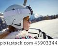 ski, skier, girl 43903344